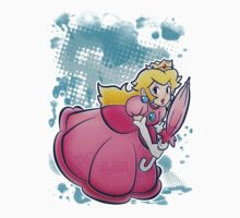 Princess Peach T-shirt by SaradaBoru