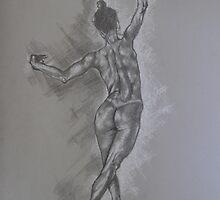 Study of a dancer by David  Calleja