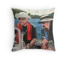 Dick & Thommo at Howqua Throw Pillow