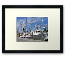 Shrimpers Framed Print