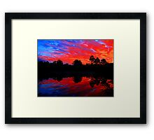 Sunset southern Western Australia  Framed Print