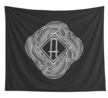 1920s Jazz Deco Swing Monogram black & silver letter A Wall Tapestry