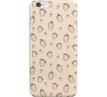 Beige strawberries iPhone Case/Skin