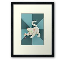 Nerdy Kitty Framed Print