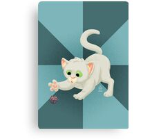 Nerdy Kitty Canvas Print