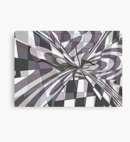 GRAY WITH A HINT OF COLOUR Canvas Print