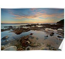 Seven Mile Beach at Sunrise Poster