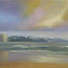 Morning over Queensliff beach by Tash  Luedi Art