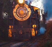 Steam Engine on the Track by KellyHeaton