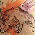 Ink & Watercolor Octopus by Amy Huxtable