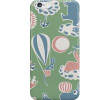 Moomintroll tiled retro green iPhone Case/Skin