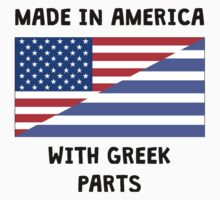 Made In American With Greek Parts Baby Tee