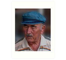 Santorini Shopkeeper Art Print