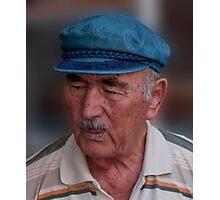 Santorini Shopkeeper Photographic Print