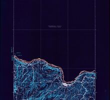 USGS Topo Map Washington State WA The Dalles 244251 1934 125000 Inverted by wetdryvac