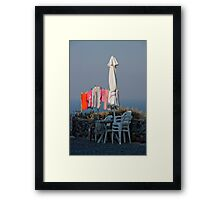 Wash Day In Oia Framed Print