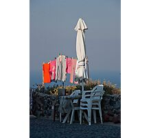 Wash Day In Oia Photographic Print