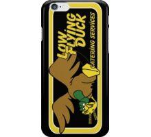 Low Flying Duck - black iPhone Case/Skin