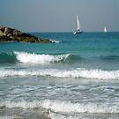Herzelia Beach - Israel by Ilunia Felczer