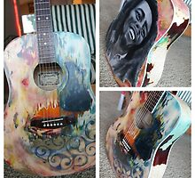Bob Marley guitar by Willow Wyles