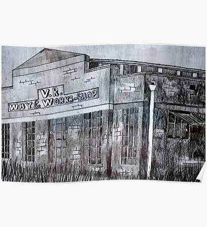 Spotswood Rail Building  Poster