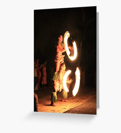 Samoa Fire Dancer Greeting Card