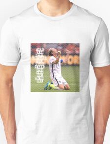 Abby Wambach Quote Design T-Shirt