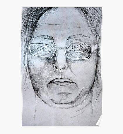 Another Self Portrait in Graphite  Poster