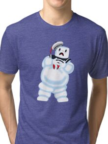 Scared Mr. Stay Puft. Tri-blend T-Shirt