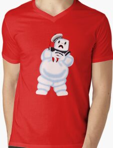 Scared Mr. Stay Puft. Mens V-Neck T-Shirt