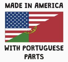 Made In American With Portuguese Parts Kids Tee