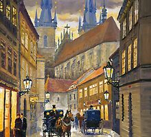 Prague Old Street Stupartska by Yuriy Shevchuk