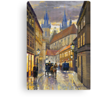 Prague Old Street Stupartska Canvas Print