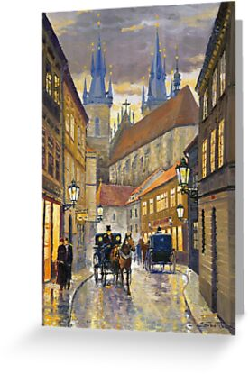 Prague Old Street Stupartska by Yuriy Shevchuk