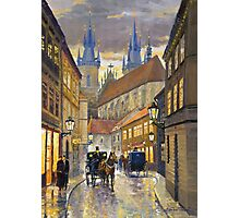 Prague Old Street Stupartska Photographic Print