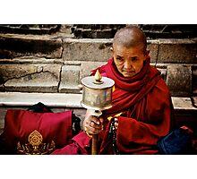 Tibetan Buddhist Nun Photographic Print