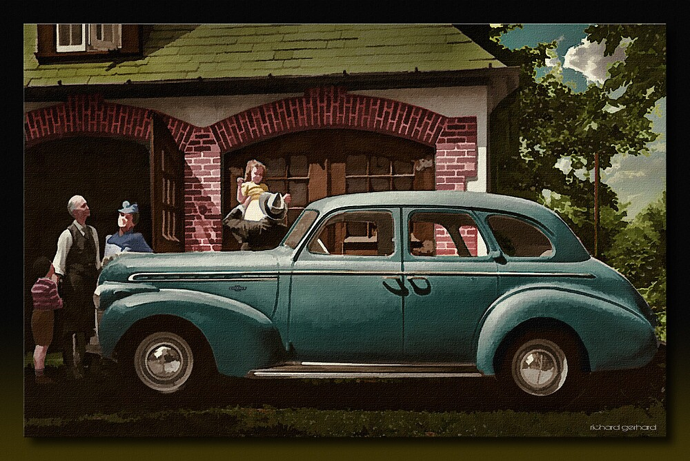 The Brand New 1945 Chevy by Richard  Gerhard