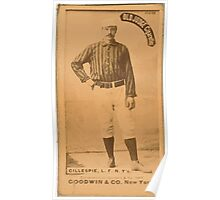 Benjamin K Edwards Collection Pete Gillespie New York Giants baseball card portrait 001 Poster