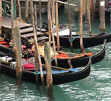 Moored Gondolas by Emma Holmes