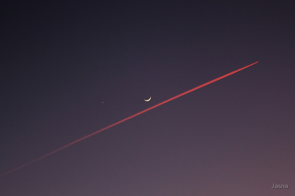 Narrowly missed the Moon by Jasna