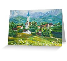 Landscape of Austria's countryside oil painting Greeting Card