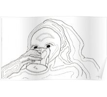 Womand Drinking Tea Poster