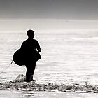 Surfer Rhossili Gower by ThePigmi