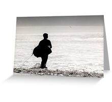 Surfer Rhossili Gower Greeting Card