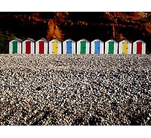 Wooden beach huts Photographic Print