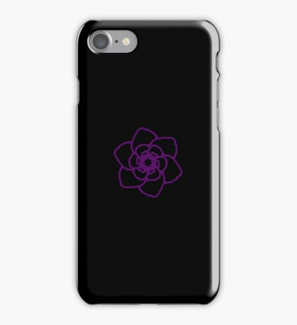 The Purple Rose Amongst the Abyss iPhone Case/Skin