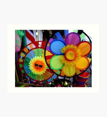 Childrens Windmills Art Print
