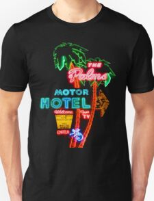 Palms Hotel Motel Neon Sign Retro T-Shirt