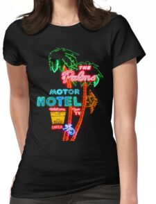 Palms Hotel Motel Neon Sign Retro Womens Fitted T-Shirt