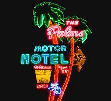 Palms Hotel Motel Neon Sign Retro T-Shirt